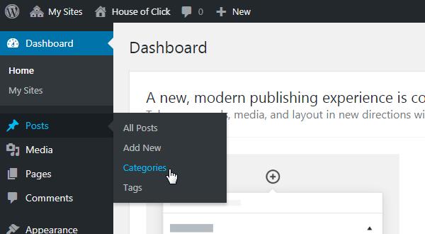 WordPress Categories Page