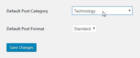 WordPress Default Post Category