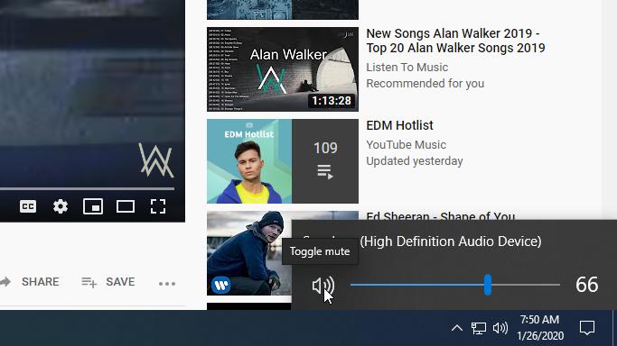 Windows 10 - Mute Speaker - Step 2